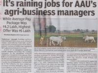 It's Raining Jobs for AAU's Agri Business Managers